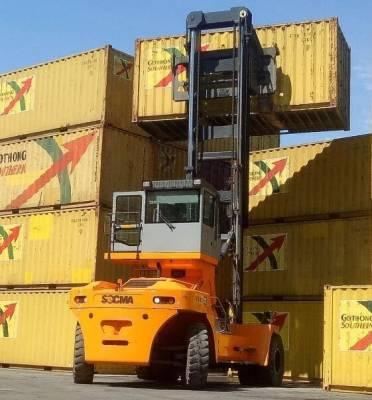Autoelevador Diesel Gran Porte Capacidad 30 Ton. para Apilar Contenedores.