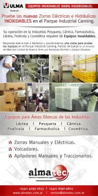 Pruebe los Equipos Inoxidables en el Parque Industrial Cannig - Ezeiza.